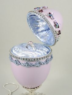 ♡※ Purple Engagement Ring Box, Purple Presentation Box w Repurposed Jewel... http://etsy.me/2c915Wb