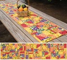 Not So Crazy Table Runner -- fall, spring, holidays,  this is a good thing.