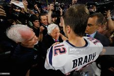 Tom Brady of the New England Patriots embraces with Robert Kraft owner of the New England Patriots after the Patriots defeat the Rams during Super Bowl LIII at Mercedes-Benz Stadium on February. Get premium, high resolution news photos at Getty Images Robert Kraft, Nfl Football Players, Tom Brady, New England Patriots, Super Bowl, Toms