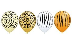 For the jingly jangly jungle... Safari Animal Assorted Qualatex Latex 5 inch Balloons x 10