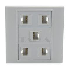 5 ports RJ45 network wall plate #Affiliate