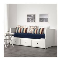 Online Ikea IKEA HEMNES Day-bed frame with 3 drawers, white - no mattress in Auckland NZ. Lowest prices and largest range of IKEA Furniture in New Zealand. Shop for Living room furniture, outdoor furniture, bedroom furniture, office and alot more ! Ikea Hemnes Daybed, Hemnes Day Bed, Painted Beds, Painted Drawers, Lit Banquette 2 Places, Cama Murphy Ikea, Banquette Ikea, Day Bed Frame, Ikea Sofas