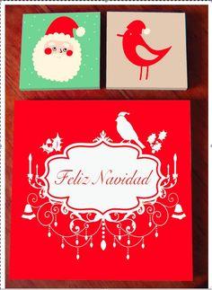 Cuadro de Navidad, $55 en http://ofeliafeliz.com.ar
