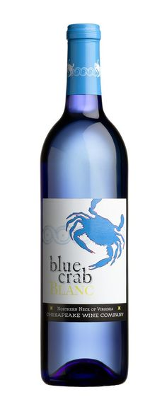 blue crab wine | Blue Crab Blanc wine. Great marrying of the brand with the packaging ...