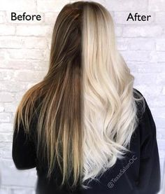 One week, two sessions, nine hours. Shoutout to Kristin at @teasesalonoc for doing this wonderful transformation to platinum! ☀️✨☀️✨ Session 1: Redken Extra Lift EL-B + 40-volume developer + Olaplex No.1. 2 oz. Redken Shades EQ Equalizing Conditioning Color Gloss 09T + 1/4 oz. 09B. Finish with Olaplex No. 2 for a minimum of 10 minutes.  Session 2: For a rooty base, do a full-weave using Redken Blonde Icing Ammonia-Free Conditioning Cream Lightener + 30-volume developer + Olaplex No. 1. and…