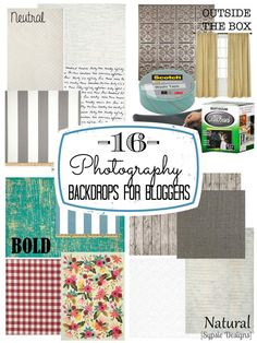 Photography backdrop and background ideas for blog projects | sypsie.com