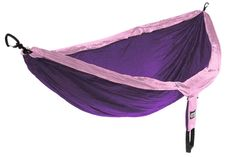 The ENO DoubleNest Hammock is your all-access pass to relaxation! Light Pink Comforter, Eno Hammock, Camping Hammock, Hammocks, Chunky Black Shoes, Eagle Nest, Double Hammock, Glamping, Purple