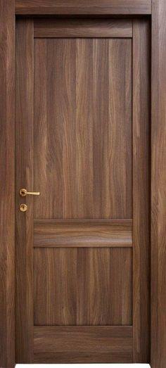 #Porta composta da un'onda #orizzontale, e due #foderine.  Modello Claire.Codice: 1O.2F in #legno listellare.Colore: #Noce Canaletto.Catalogo Ensemble.
