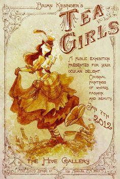 The Tea Girls- a public exhibition by Brian Kesinger   #PinTeaTuesday
