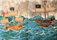 I adapted this pirate ship project for two age-groups. The younger classrangesfrom almost-three to just-turned-four, and the older class comprises four tosixyear olds, plus one eight year old. …