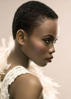 Gorgeous buzz cut for African American women