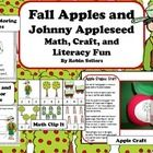Fall Apples and Johnny Appleseed Learning Center Fun:  This set includes four different learning centers and activities for Fall Apples and Johnny Appleseed ...