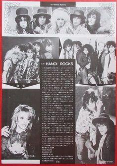 HANOI ROCKS MICHAEL MONROE Andy McCoy 1987 CLIPPING JAPAN MAGAZINE N4 D7 | eBay