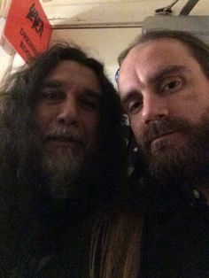 Tom Araya of SLAYER with Hoest of TAAKE - Photo by Erlend Hjelvik