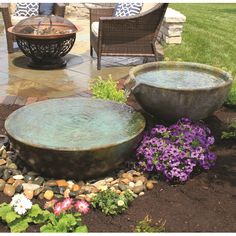 Features:  -Lightweight and easy to install.  -Material: GFRC.  -Unique and beautiful patina finish.  -Durable.  -Spillway collection.  Finish: -patina; green.  Style: -Modern.  Fountain Design: -Wate                                                                                                                                                      More