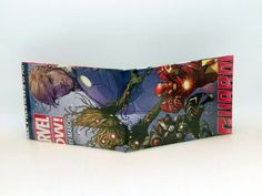 Comic Book Wallet// Marvel Now// Guardians of the Galaxy// Star-Lord, Groot, Rocket Raccoon, and Iron Man, $4.00
