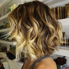 short wavy brown hair with blonde highlights - Google Search