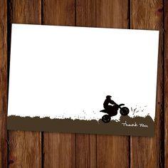 Dirt Bike Thank You Notes by ScriptivaPaper on Etsy