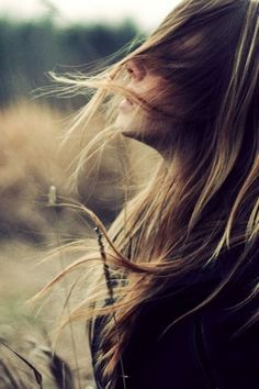 field, girl, hair, photography, wind