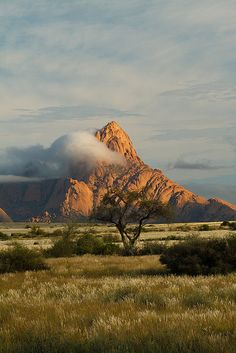 The granite peak of Spitzkoppe in the Namib desert of Namibia