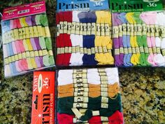 Embroidery Floss Pack Prism Holiday, Spring, Patriotic & Nuevo Pastel, Lot of 4 #Prism