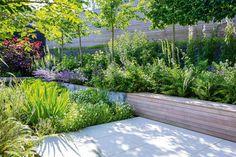 Urban Garden Design, Contemporary Garden Design, Garden Landscape Design, Back Gardens, Small Gardens, Outdoor Gardens, Small City Garden, Modern Gardens, Modern Landscaping