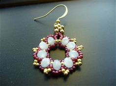 Free easy beaded earring pattern that you can work up to give to a friend or loved one, or even yourself!
