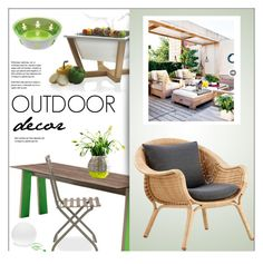 """Outdoor Decor"" by lovethesign-eu ❤ liked on Polyvore featuring interior, interiors, interior design, home, home decor, interior decorating, Metalmobil, Sika, Ethimo and Alessi"