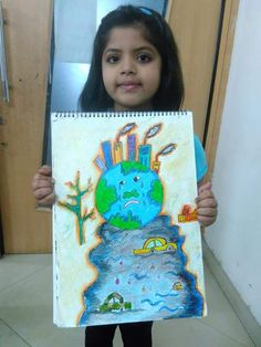 to unite to save earth and get paid to do it. Save Earth Drawing, Save Water Poster Drawing, Easy Drawings For Kids, Drawing For Kids, Art For Kids, Air Pollution Poster, Save Earth Posters, Global Warming Poster, Save Environment