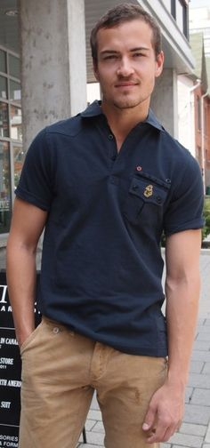 United Kingdom of Luke navy polo $75 from Gotstyle Menswear.