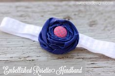 Embellished Rosette Headband