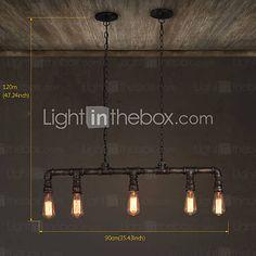 MAX 60W Island Light , Rustik/Stuga / Vintage Målning Särdrag for Ministil MetallLiving Room / Bedroom / Dining Room / Sovrum / 4244648 2016 – Kr.1,451