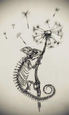The Little Fat Rat Chameleons ?✨ - The Little Fat Rat Dark Art Drawings, Tattoo Design Drawings, Pencil Art Drawings, Art Drawings Sketches, Tattoo Sketches, Cool Drawings, Tattoo Designs, Tattoo Ideas, Skull Tattoo Design