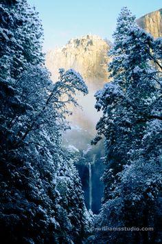 Yosemite Falls Winter