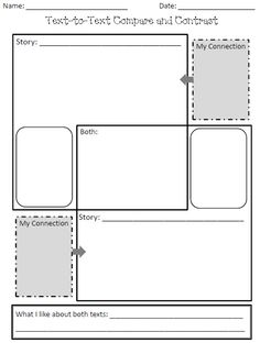 text-to-text connections graphic organizer...free