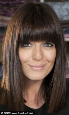 Love the cut and fringe of this picture of Claudia Winkleman.  So fresh, shiny and sleek. x