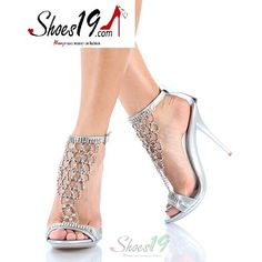 Liliana Lottus-1 Silver Evening High Heel Sandals - Round Toe Classic Pumps Clubbing Wedding Prom Fashion Style Bridal Interview Work Graduation $29.99