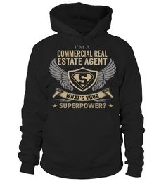 Commercial Real Estate Agent Superpower Job Title T-Shirt #CommercialRealEstateAgent