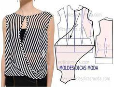 http://moldesdicasmoda.com/molde-de-blusa-de-riscas-98/ #blusas #patternmaking #patrones #patterndesign #couturefashion #couturedress