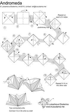 Kusudama Me! - Modular Origami - Andromeda unit