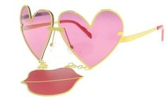 Sharing the newest styles and colors of eyeglasses and sunglasses from around the world. Prada, Heart Sunglasses, Funky Fashion, Now And Forever, 2000s Fashion, Love Heart, Miu Miu, Sunnies, Eyeglasses