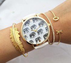 Montre éléphant femme
