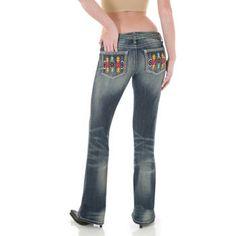 Murdoch's – Wrangler - Women's Rock 47 Ultra Low Rise Jean Multi-Color Beads