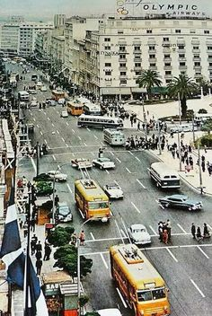 greece ∘ athens ∘ Panepistimiou street in the Greece Pictures, Old Pictures, Old Photos, My Athens, Athens Greece, Places To Travel, Places To Visit, Greek Culture, Acropolis