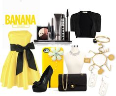 """banana canariss"" by fashionstyles-824 ❤ liked on Polyvore"