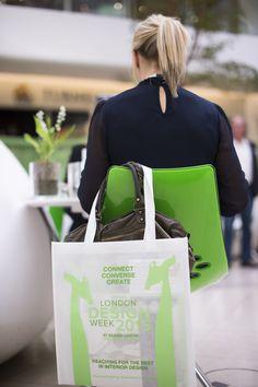 Green Tajo Chair in situ at London Design Week #LDW15 at Design Centre Chelsea Harbour