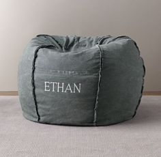 RH baby&child's Distressed Canvas Bean Bag Cover:With their easy-going attitude and floppy appeal, bean bags have a knack for bringing a smile to faces of all ages. This one is covered in a cotton-canvas shell that has been purposefully distressed to impart plenty of casual, vintage patina.