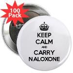 KEEP CALM and CARRY NALOXONE pin (white) Proceeds benefit people and families in recovery from addiction in Delaware. ~ Recovery is by Design