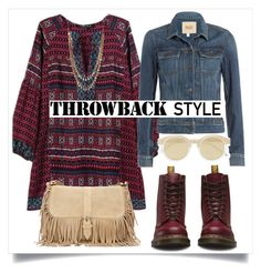"""""""Throwback Style: Dr. Martens"""" by alaria ❤ liked on Polyvore featuring Mode, Paige Denim, Dr. Martens, Le Specs, 14th & Union, DrMartens und throwbackstyle"""