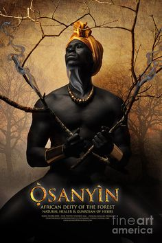 Osanyin (Ozain), African Deity of the Forest, Natural Healer and Guardian of Herbs